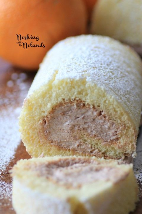 Orange Chocolate Swiss Roll for Stuff, Roll and Wrap
