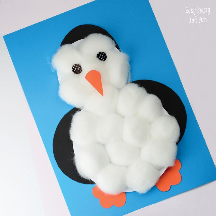 Cotton balls penguin craft pinterest crafts toddlers for Penguin project
