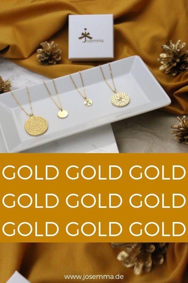 Gold Schmuck – absolut im Trend und absolut Schön. Sei es als filigrane Kette, …