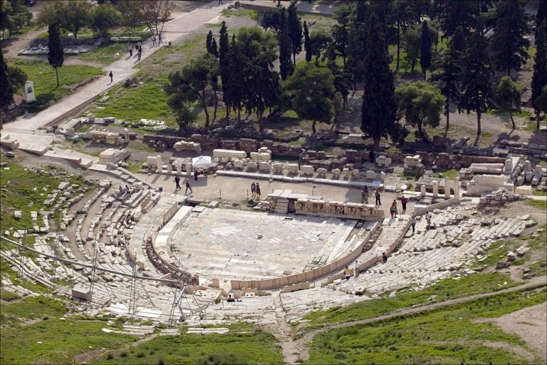Theater of Dionysus Eleuthereus (or Dionysos or Dionysius ...