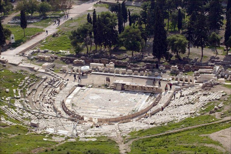 Theater of Dionysus Eleuthereus (or Dionysos or Dionysius ...