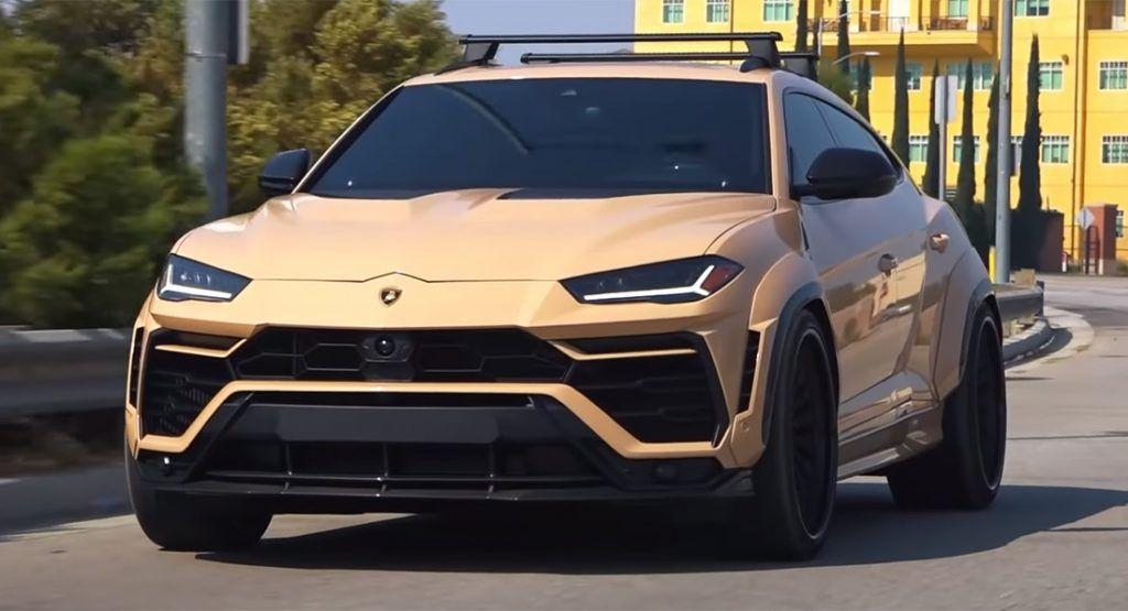 Widebody Lamborghini Urus With Sand Wrap Would Look At Home In The Desert Carscoops Lamborghini Dream Cars Super Luxury Cars