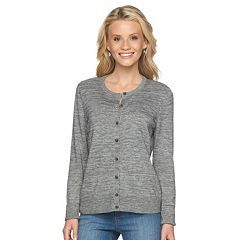 Petite Croft & Barrow® Ribbed Cardigan