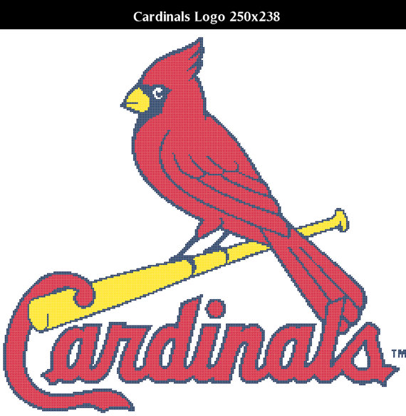 Photo of St. Louis Cardinals — Counted Cross Stitch Chart Patterns, 3 sizes