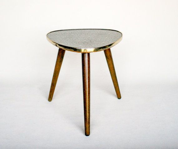 Mid Century Modern Tripod Coffee Table / 60's Home Decor