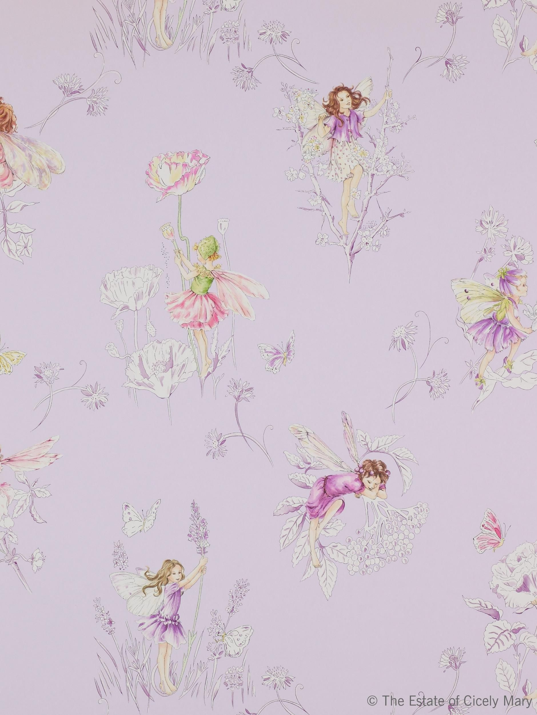 Tapet Meadow Flower Fairies Lilac 708kr rulle