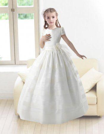 lovely ball gown round neck short sleeves floor length ...