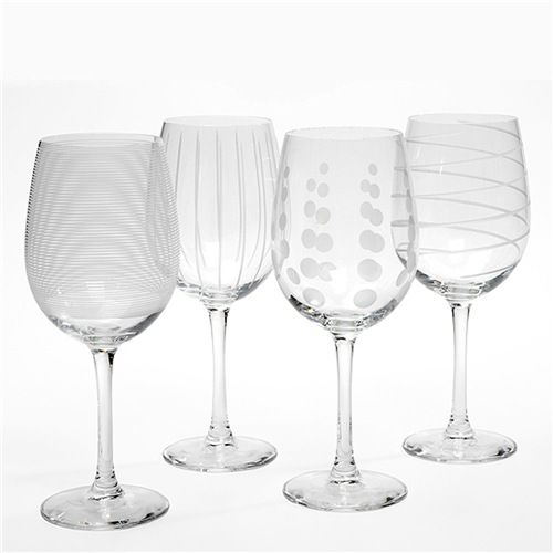 mikasa cheers white wine glasses