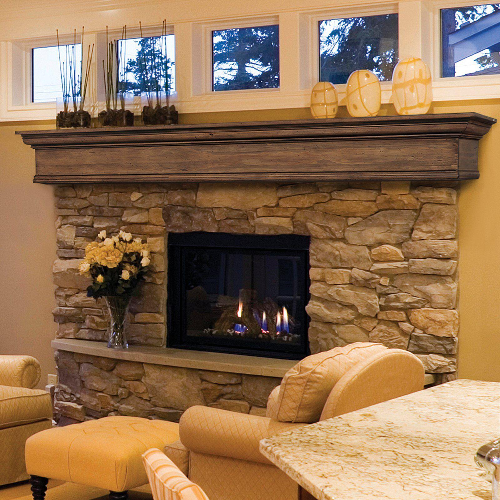 Small Fireplace Mantel Surrounds: Pearl Mantels Savannah Mantel Shelf