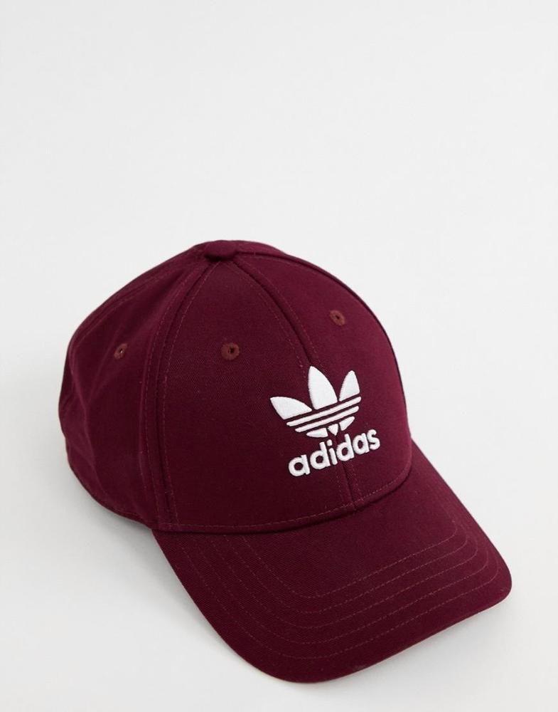 7f28d82eb2dc8 adidas Originals Trefoil Logo Hat in Burgundy in 2019   adidas ...