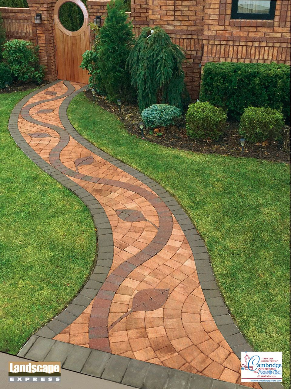 Enchanting Small Garden Landscape Ideas With Stepping Walk: Design Ideas For Brick And Paving Stone Walkways