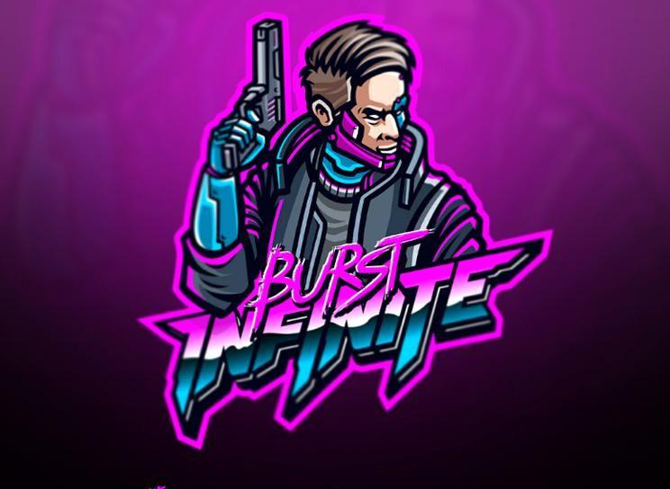 BURST INFINITE logo cy neon cyberpunk poppunk vector