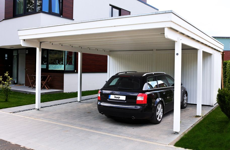 Kwp carport weiss g pixel bad car