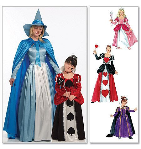 queen of hearts costume diy girls costume pattern queen of hearts cinderella - Childrens Halloween Costume Patterns