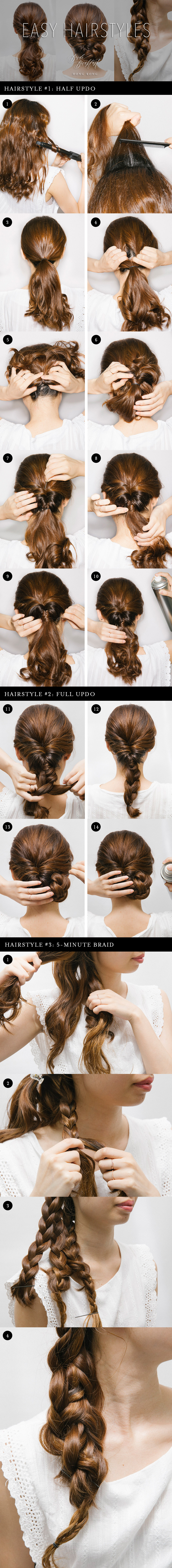 Easy wedding hairstyles by xing macquillage half updo full updo
