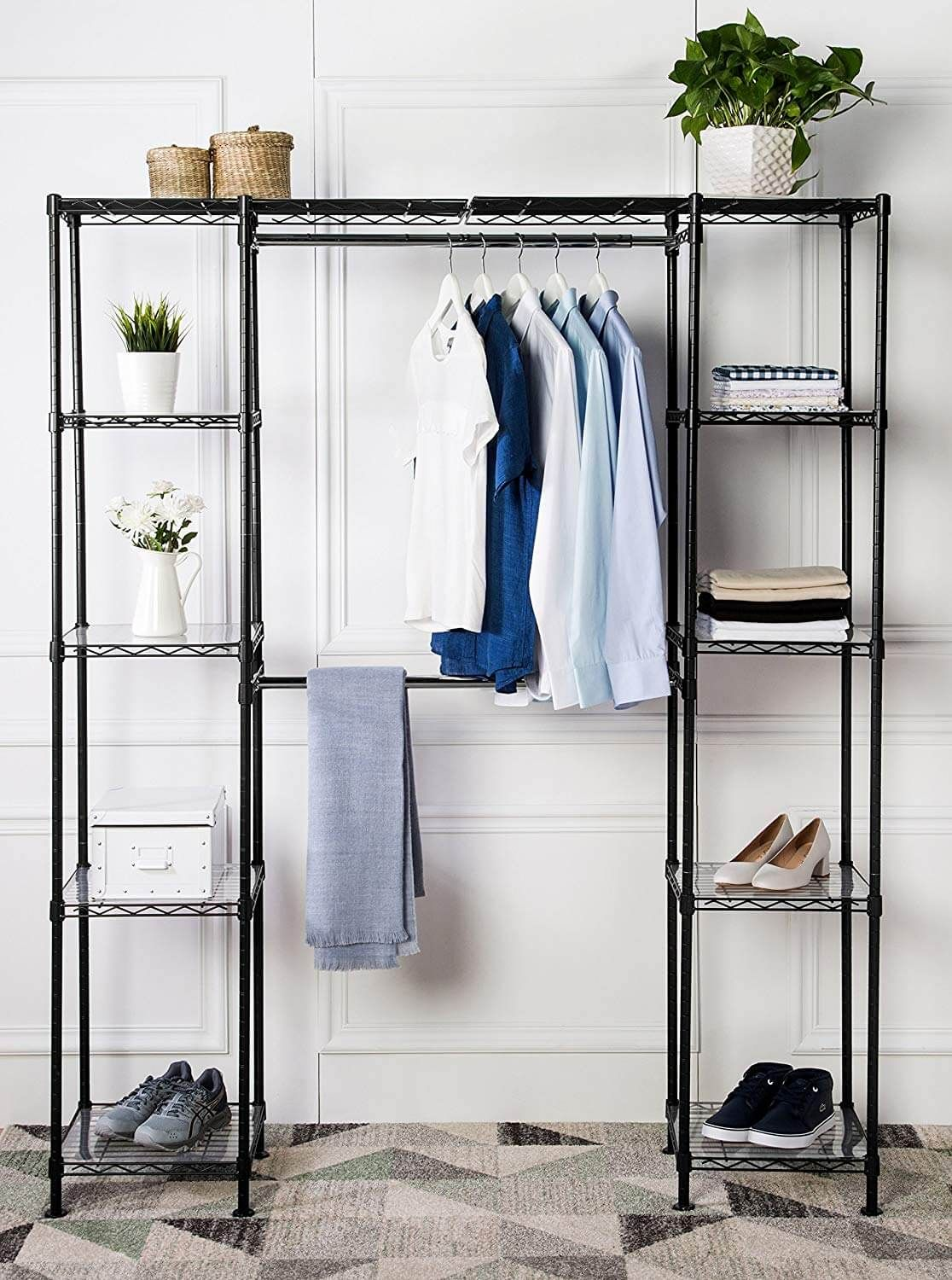 26 Stylish Closet Organizers To Stop The Clutter And Improve Your Home Adjustable Closet Shelving Closet Organizing Systems Custom Closet Organization