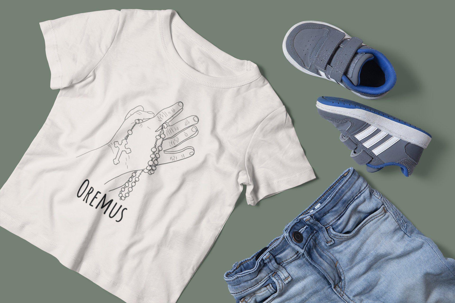 Catholic kids shirt oremus catholic tshirt catholic