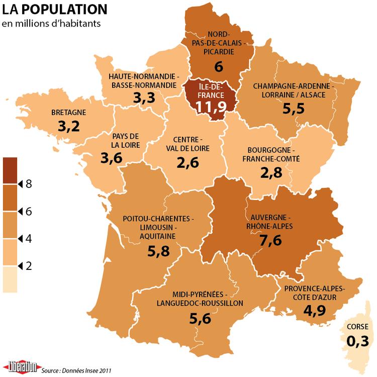 Quand l'Insee voit la nouvelle France à treize régions