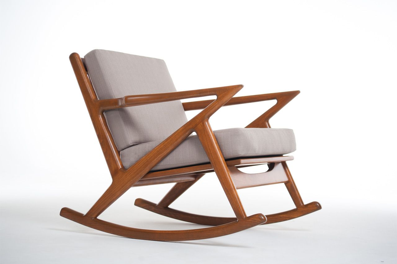 modern rocking chair with kennedy mid century modern rocking