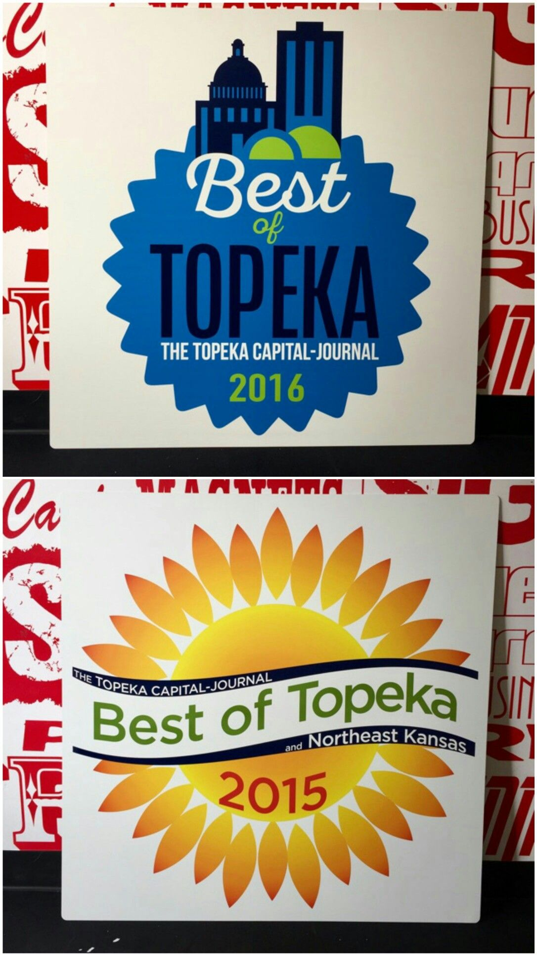 We Made This Aluminum Sign For Gardner Roofing Signs Printing Promotional Items Vehicle Graphics Contact Us For Y Sign Printing Topeka Car Graphics