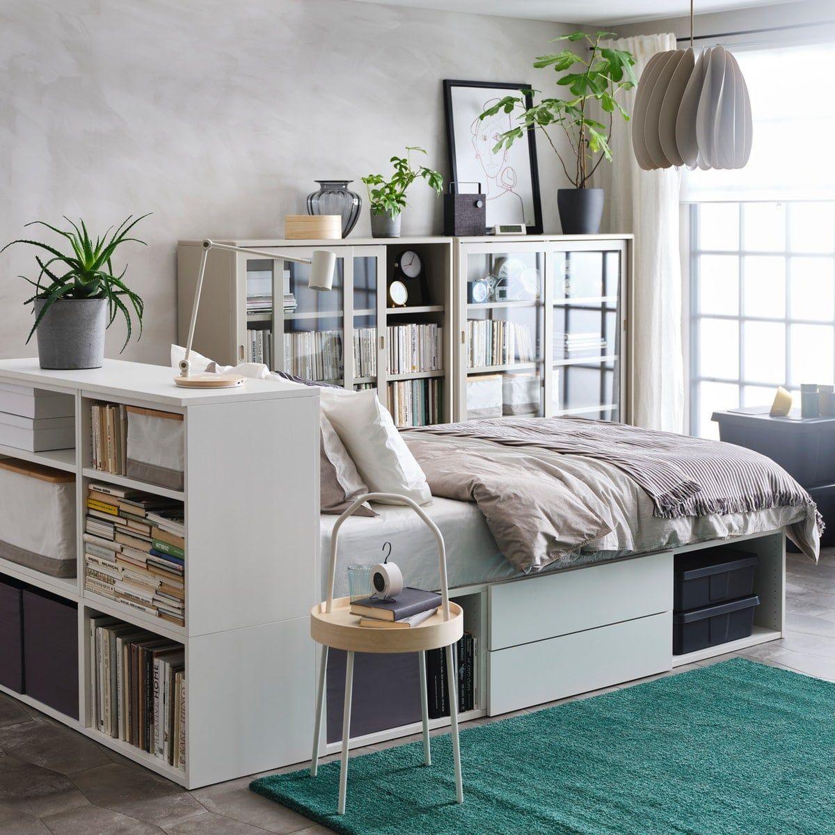 Et funksjonelt soverom i ei lita stue Til hjemmet, Små