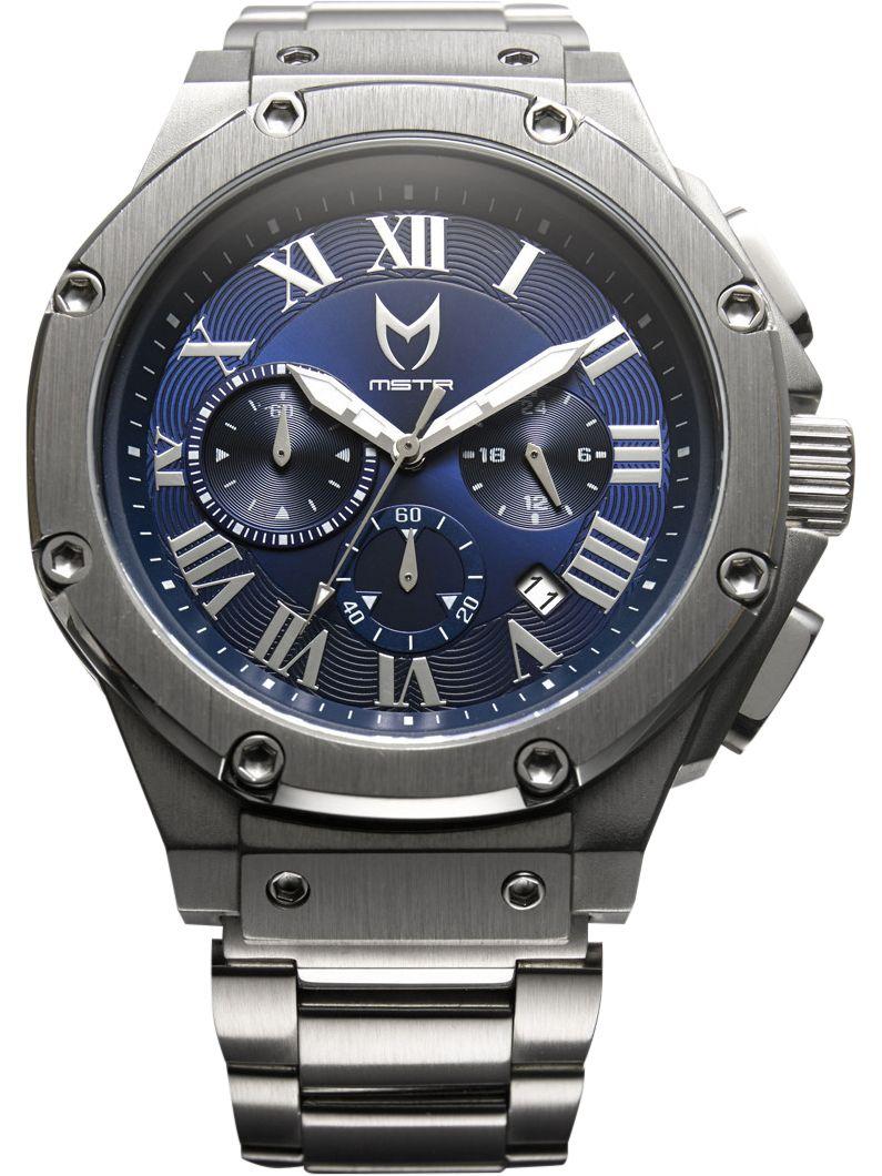 Meister Ambassador AM138SS Silver Blue Watch