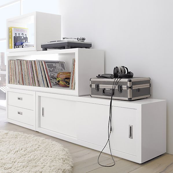 Ascend II White Stacking Storage Units in Stackable Storage ...