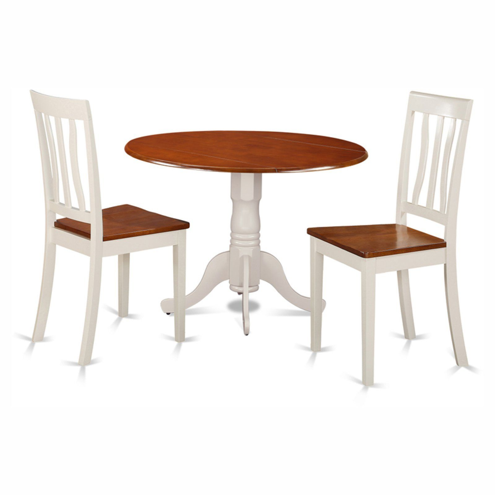 Marvelous East West Furniture Dublin 3 Piece Drop Leaf Round Dining Ncnpc Chair Design For Home Ncnpcorg