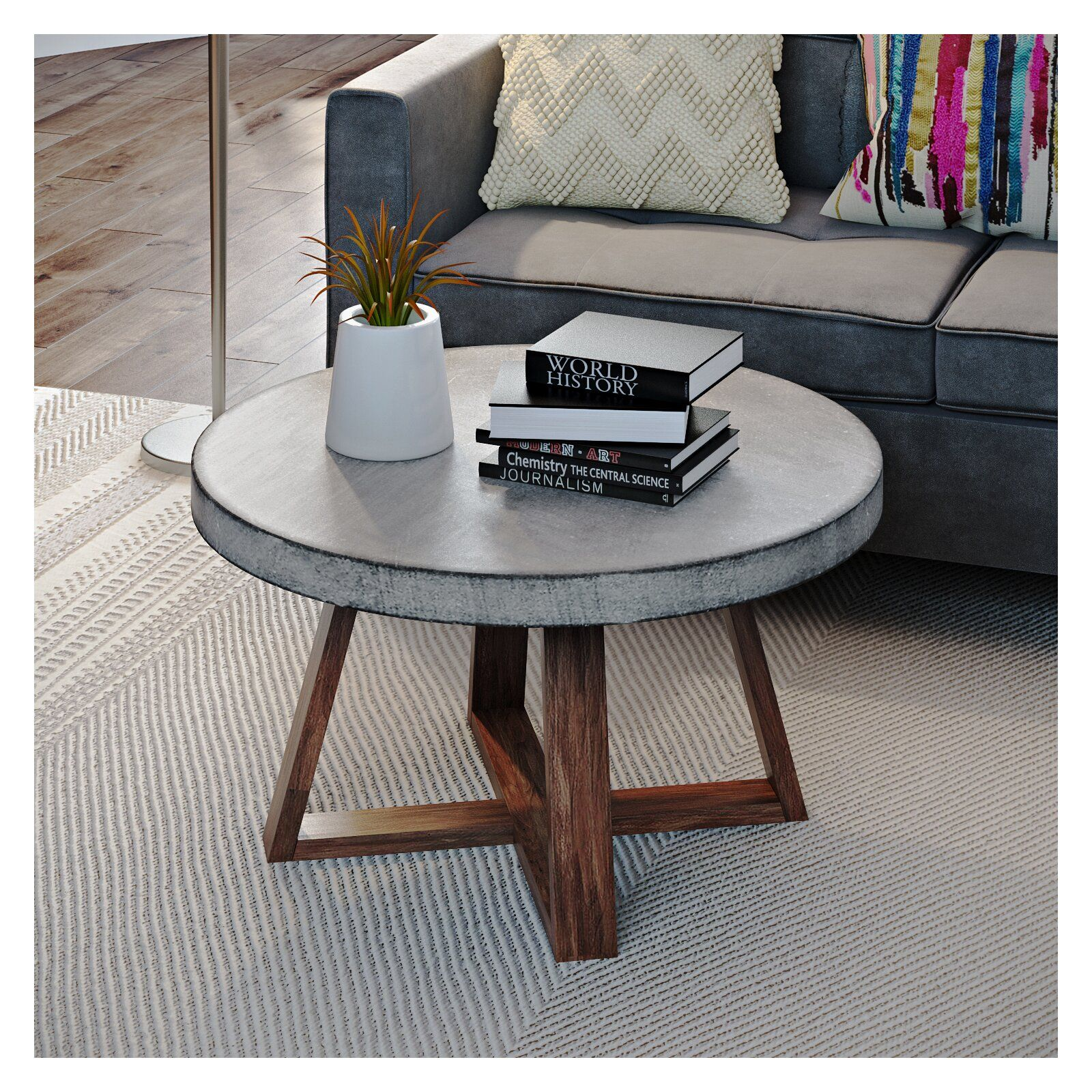 Balch Coffee Table Coffee Table Concrete Coffee Table Living Room Coffee Table [ 1600 x 1600 Pixel ]