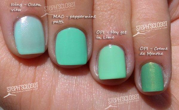 Mint Green Nail Polish Love it! | nail polish | Mint green nail ...