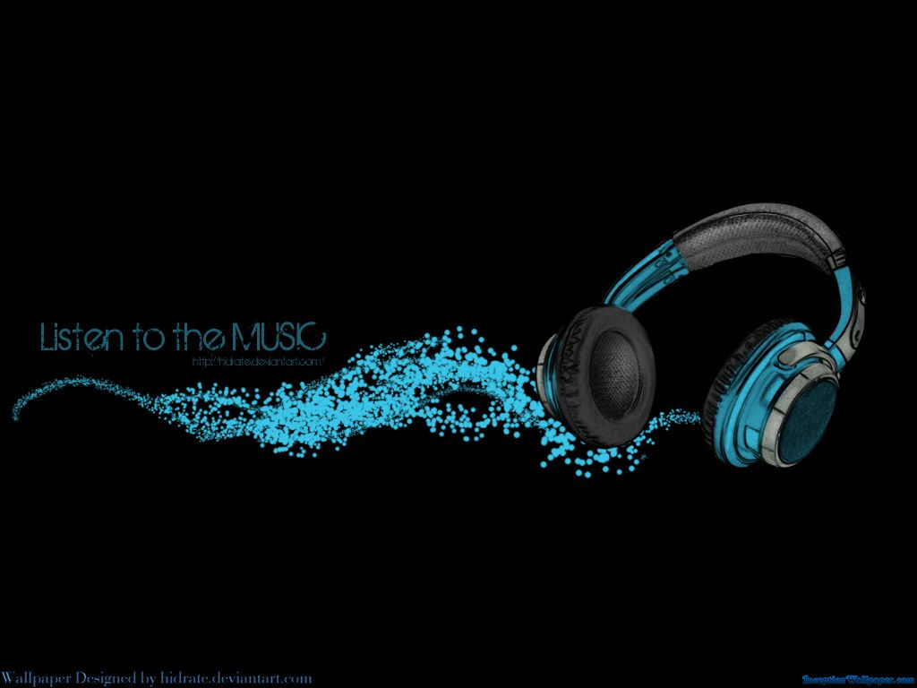 Blue Music Headphone Black Wallpaper For Hd Desktop 32819292
