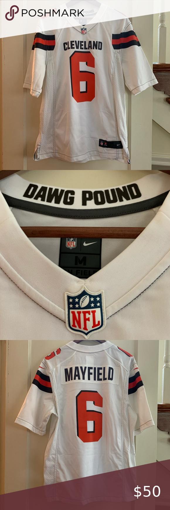 Baker Mayfield NFL Shop Nike White Jersey in 2020 White