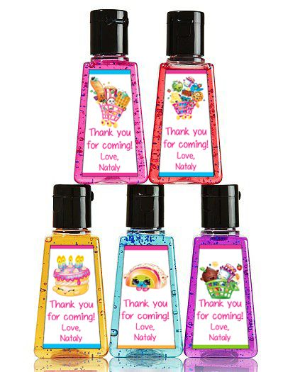 Shopkins High Hand Sanitizer Party Favors