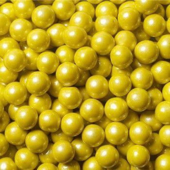 Sixlets Mini Chocolate Balls Shimmer Yellow