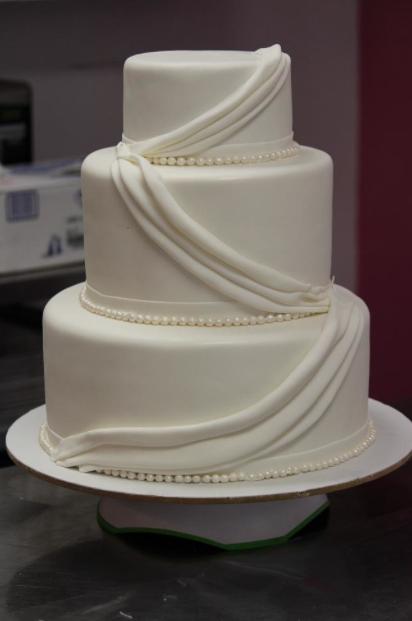 How To Make Fondant Swags Or Drapes Bakery Fun Cake Cake