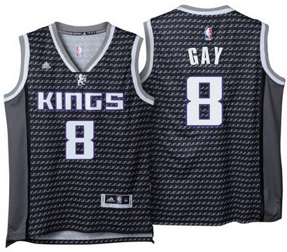 353a2eba0 ... sale Sacramento Kings 8 Rudy Gay 2016-17 Alternate Black Global  Swingman Jersey ...