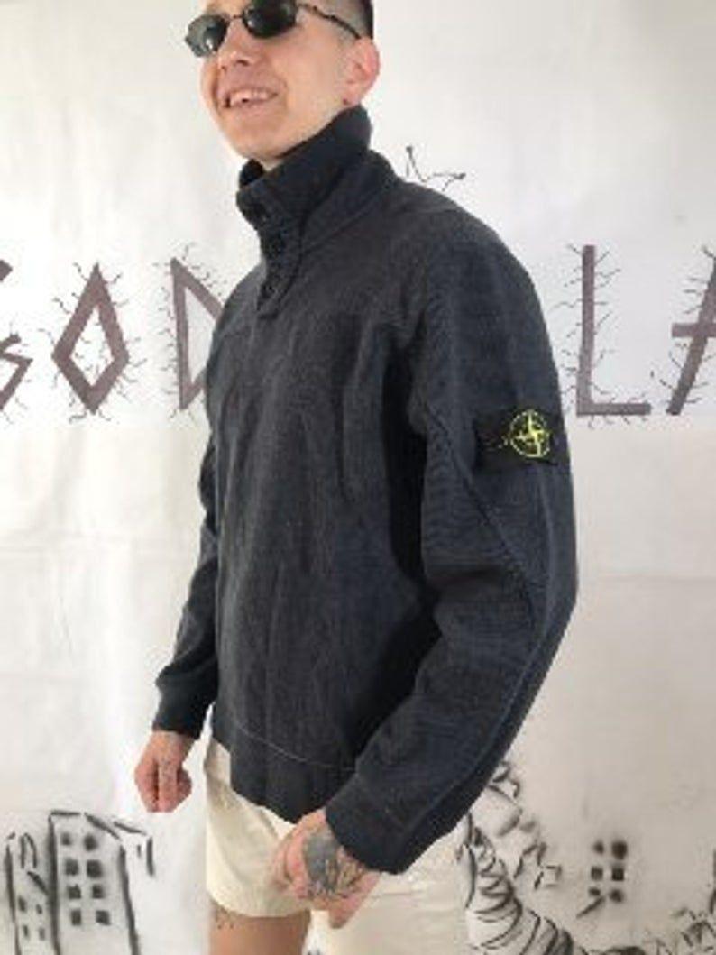 Stone Island Vintage Men S Black Sweatshirt 90s 80s Retro Etsy Godzillavintagestore Vintageclothes Stonei Black Sweatshirt Men Retro Sweater Casual Pullover