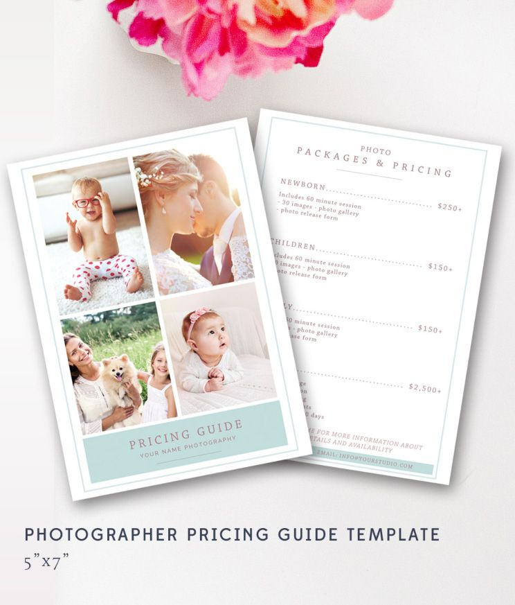 Wedding Pricing Template - Photography Pricing Guide - Price List