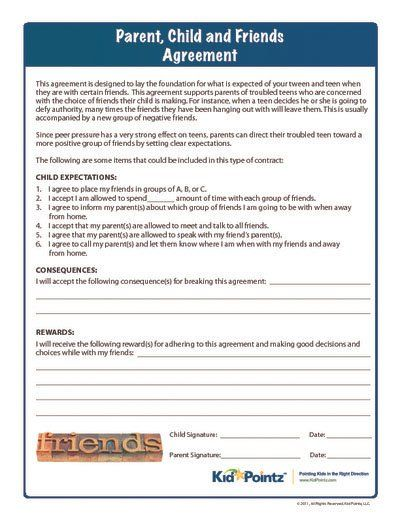 Behavior Contracts For Kids | Improve Behavior | Kid Pointz