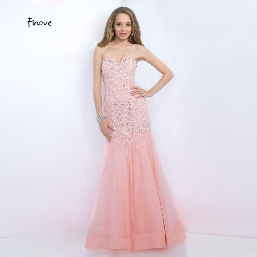 Pink Mermaid Evening Dresses 2017 New Formal Sweetheart Off the ...