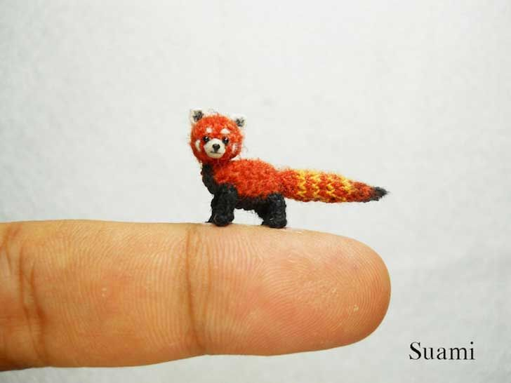 panda rojo miniatura en crochet, by Suami | Miniaturas | Pinterest ...