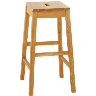 Buy Habitat Tato Oak High Stool At Argos Co Uk Your