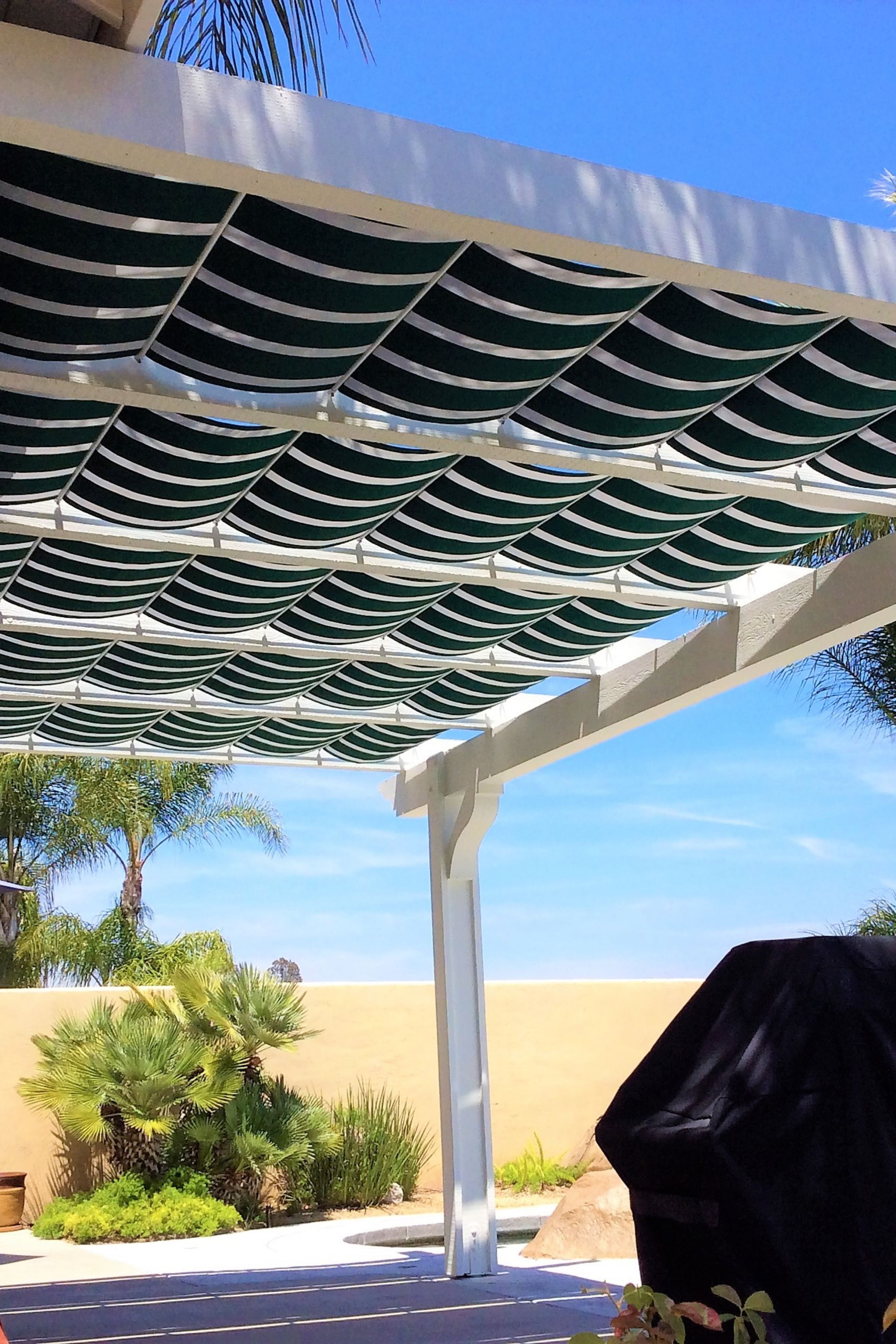pergola shade canopy on attached pergola with striped fabric retractable canopies in murrieta ca pergola shade cover pergola patio shade pergola shade cover pergola patio shade