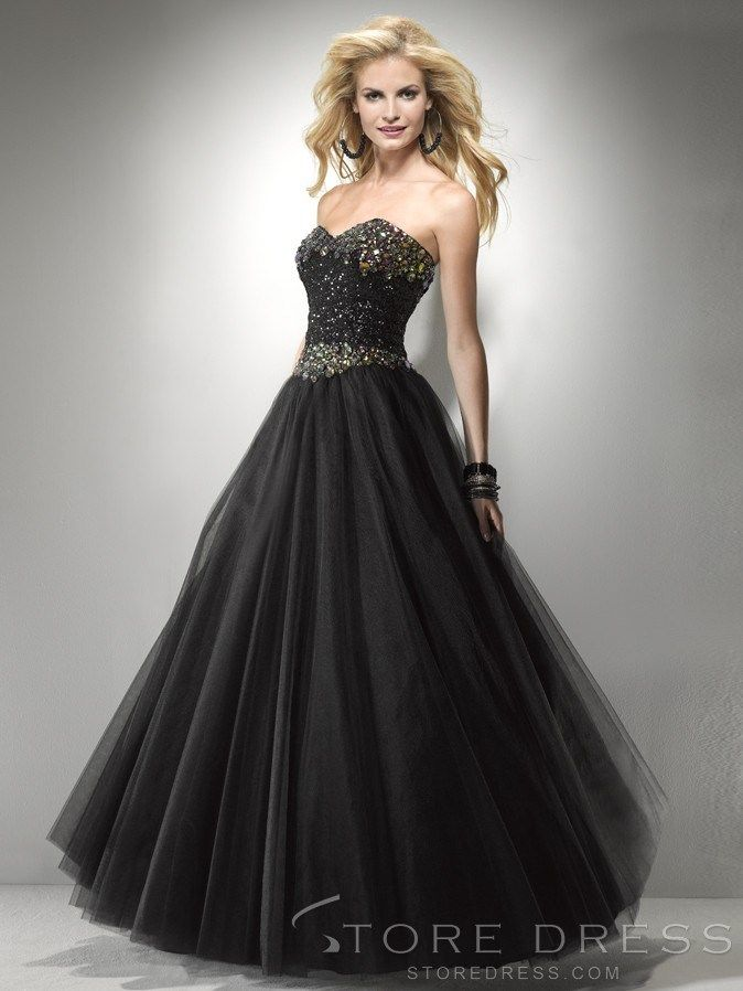 Sparkly A-line Sweetheart Appliques Beading Evening Dress