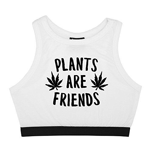 3ed05ff84 Plants Are Friends Bralet Crop Top Fun Women's Tumblr Can... Gothic Shirts,