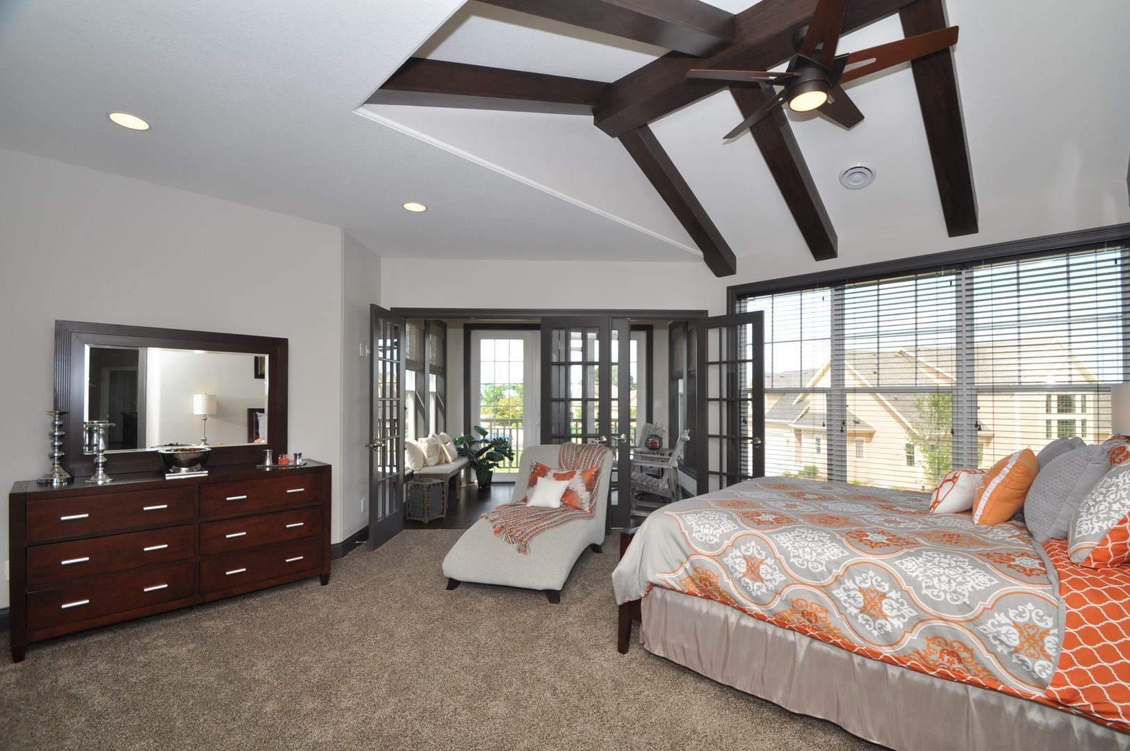 Luxury master bedroom floor plans  Kaerek Homes award winning Le Ciel  Parade Model Master Bedroom