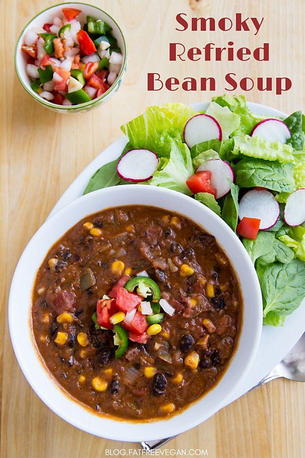 Smoky Refried Bean Soup