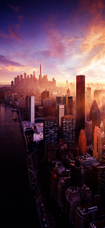 Nyc Sunset Iphone Wallpaper City Wallpaper New York City City View