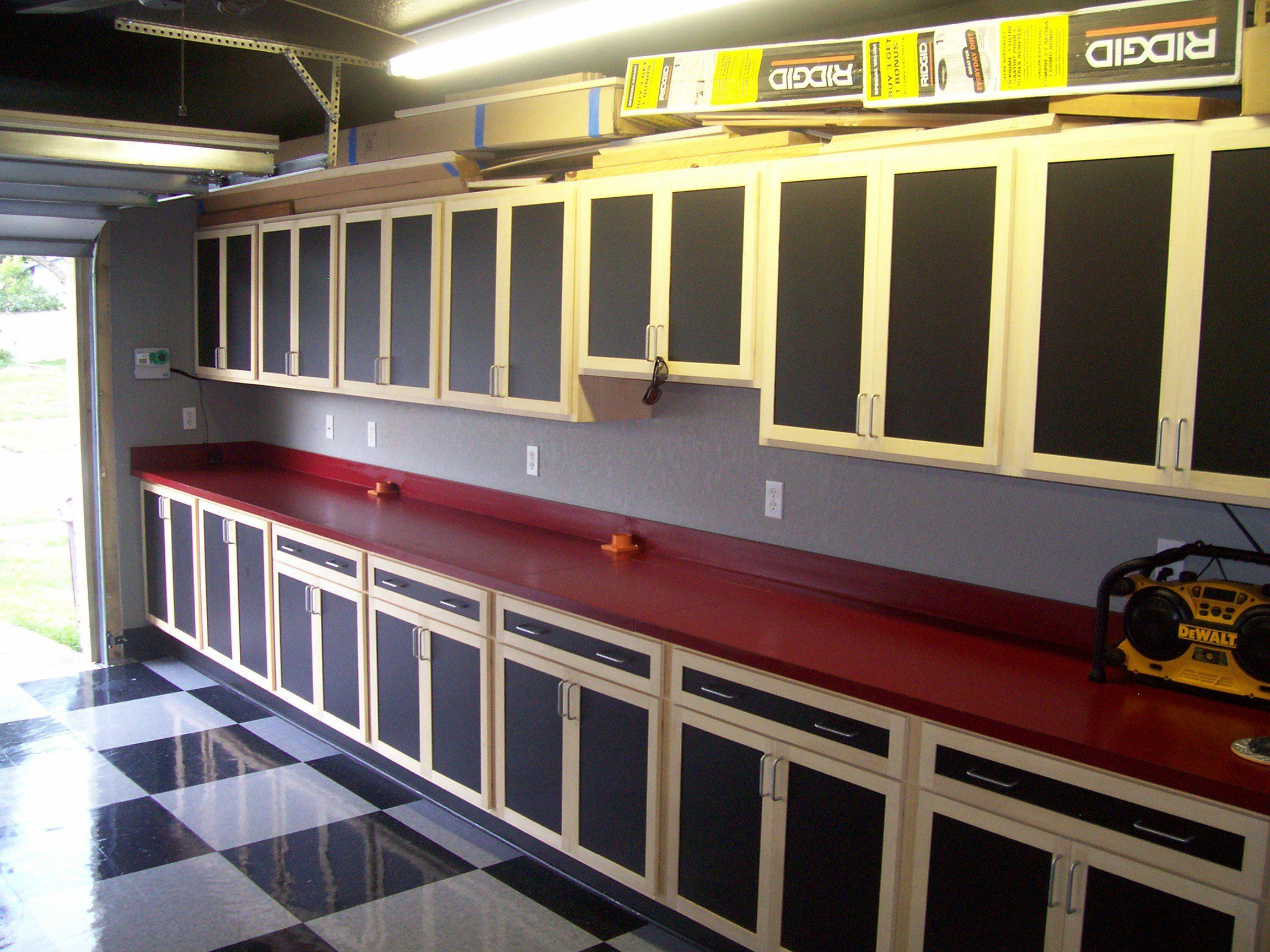 Custom built garage cabinets home improvement projects for Custom garage workshop