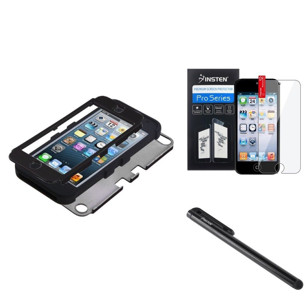 Insten Tuff Phone Case Cover/ Stylus/ LCD Protector for Apple iPhone 5/ 5C/ 5S/ SE #1152199